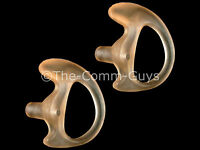2 Left Large Flesh Covert Gel Earmolds - Tactical Fbi Open Ear Insert Earpiece