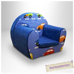 autos verkehr blau kinder bequem schaum sessel kleinkinder. Black Bedroom Furniture Sets. Home Design Ideas