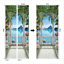 3D-Self-Adhesive-Garden-Balcony-Blue-Sea-Door-Sticker-Wall-Decor-Mural-Wallpaper thumbnail 5