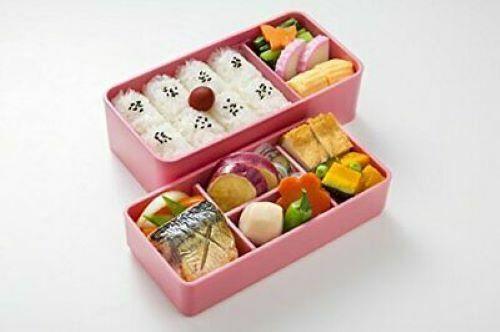 Skater KLS5 Double layer Lunch Bento Box Rabbit Blossom 640ml Vermilon
