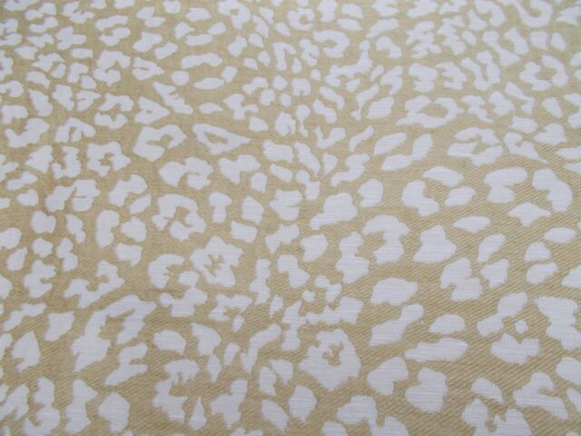 Zoffany Curtain/Upholstery Fabric 'OCELOT' 2.2 METRES GOLD Animal Print Weave