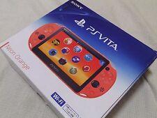 PlayStation Vita Wi-Fi Console System PCH-2000 NEON ORANGE PS Vita
