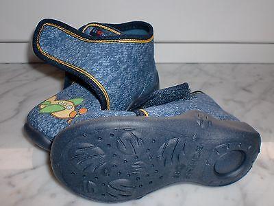 Babyschuhe von Rohde, aus Textil mit Klett, Gr. 18, jeansblau