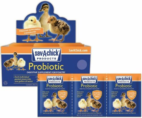 sav-a-chick Probiotic digestive supplement 3 pack makes 3 gallons