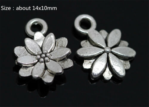 11 Kinds Of Flower Antique Silver//Bronze Charms Pendant Jewelry Making Craft