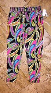 a3e12f2746 NWT $150 Trina Turk Garden Black Paisley Beach Pants Swimsuit Cover ...