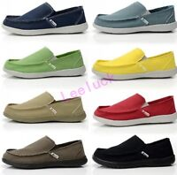 Synthetic Men Walking Canvas Driving Flat Shoes Slip On Sport Casual Loafers sz