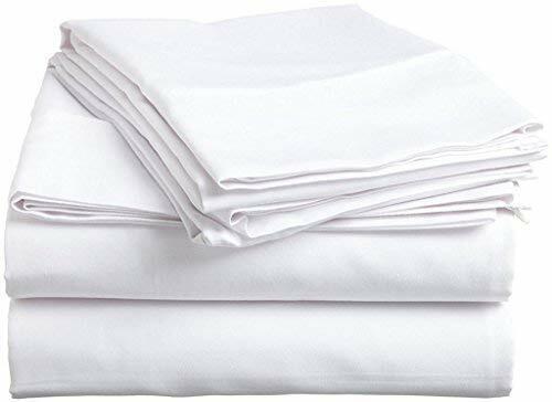 !Extra PKT *4 PCs Sheet Set 1000 TC All Size 100/%Pima Cotton White Solid