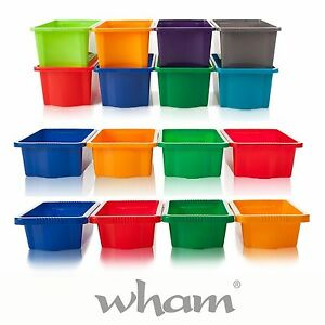 NEW-WHAM-Stackable-Strong-Storage-Boxes-for-Toys-Craft-Tools-Plastic-Tubs