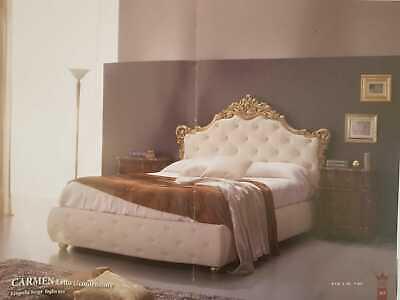 Letto Matrimoniale In Legno Colore Foglia Oro Ed Ecopelle Con Contenitore Ineguale Nelle Prestazioni