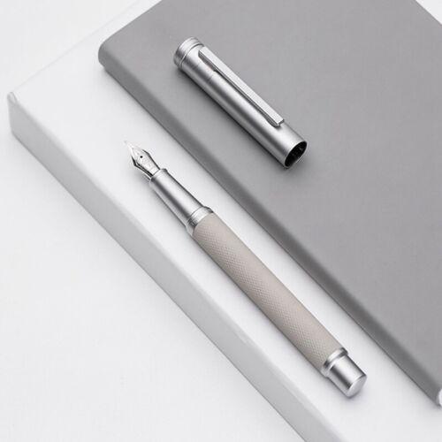 New Hongdian Matte Black Metal Fountain Pen EF//F Nib with Ink Refill Converter