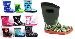 KIDS-BOYS-GIRLS-WELLIES-WELLINGTON-BOOTS-RAINY-BOOTS-SNOW-BOOTS-SIZE-UK-KIDS-4-2