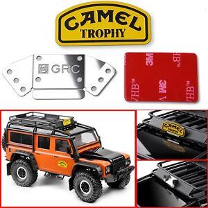 Metal Camel Trophy Badge Logo Decals For 1/10 Land Rover Defender TRX4 D90 RC4WD