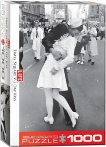 Eurographics Jigsaw Puzzle 1000 Piece - LIFE Mag Kissing on VJ Day EG60000820