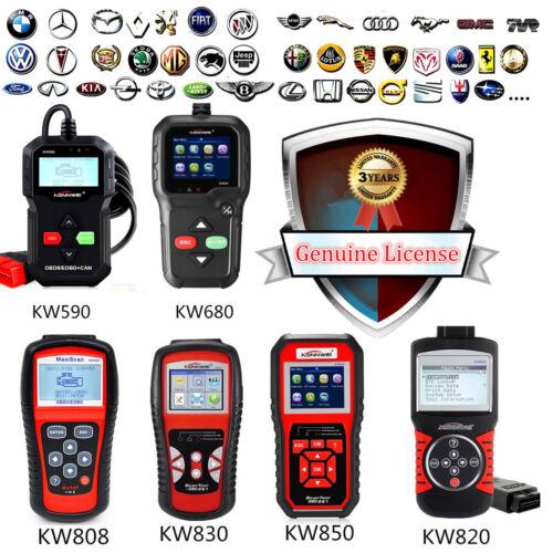 KW590 680 808 820 830 850 CAN OBDII OBD2 EOBD Car Reader Diagnostic Scanner Tool