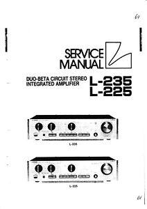 Tv, Video & Audio Begeistert Service Manual-anleitung Für Luxman L-225,l-235 Harmonische Farben