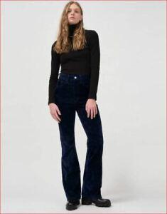 new Levi's women velour pants 369390000 ribcage bootcut blue W23 x L33