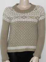 Debbie Morgan Long Raglan Sleeve Scoop Neck Sweater Sahara Combo/small