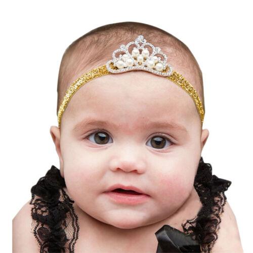 Mädchen Neugeborenes Baby Headband Prinzessin Krone Haarband Foto Requisiten Neu