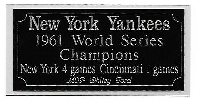 Lower Price with New York Yankees 1961 World Series Champions Engraving Display Cases Nameplate Easy To Lubricate Sports Mem, Cards & Fan Shop