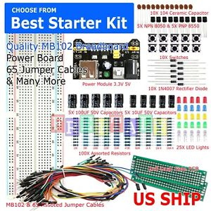 MB102-Solderless-Breadboard-Protoboard-830-Tie-Point-MB-102-Test-Circuit-PCB-Set