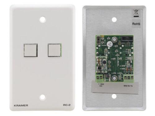 W 2 Button RS-232 Controller Kramer RC-2 White