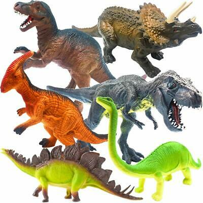 6 Pcs Kids Educational Toys Realistic Dinosaur Figures Set W// Dinosaur Booklet