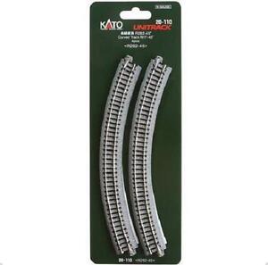 Kato-20-110-Rail-Courbe-Curve-Track-R282mm-45-4pcs-N