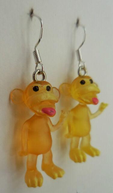 Hey hey we're strange monkeys! earrings funky monkey cute kitsch 4 colours