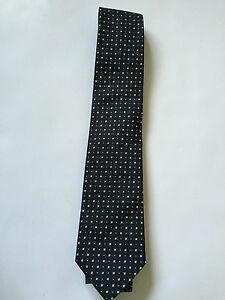 PAUL SMITH Silk TIE Black with pattern Polka Lining 8cm Blade