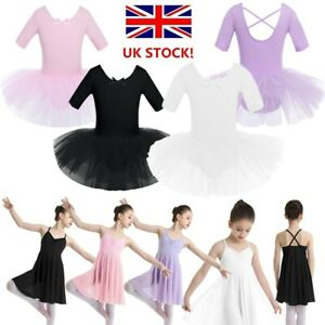 UK Women Sequins Ballet Dance Tulle Dress Gymnastics Ballerina Leotard Dancewear