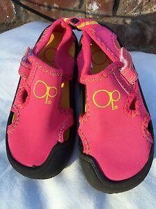 Ocean Pacific OP Kids Children water shoes/sandals pink size M 7-8 ...