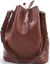 Louis Vuitton EPI NOE Grand Schoulder Bag Schulter Tasche Verde Braun Brown Groß