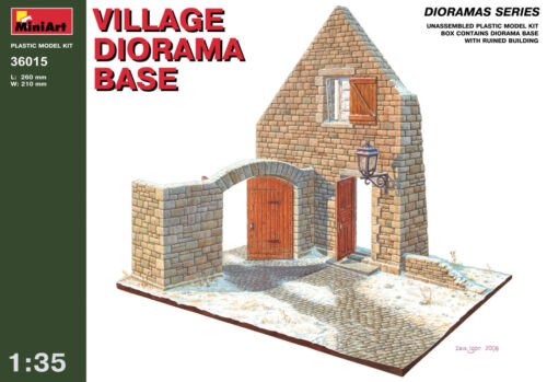 Miniart Village Town Diorama Base Plate Base 13 5 Kit Model Set 36015