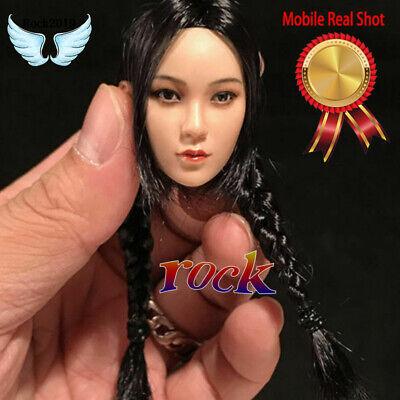 """YMTOYS 1//6 Female Suntan Head Sculpt Model Single Long Braid For 12/"""" Figure Body"""