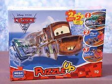 Disney Pixar Cars 2 Mega Puzzles Puzzle Up 3D 2 Sided 5+ 70 Piece New 2012