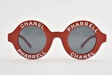 9c210822983e4 Chanel X Pharrell 19D Red White Logo CC Round Circle Sunglasses Rare Capsule