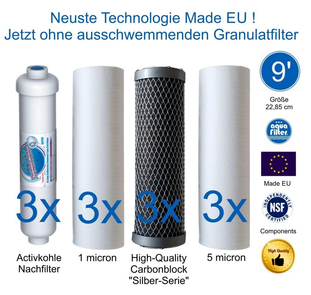 FILTRI 9 pollici Ultimate Plus impianti osmosi Europe Pro modelli dopo il maggio 2012