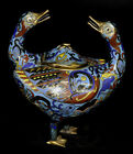 Chinese Qing Dynasty Figural Cloisonne Censer Lot 325