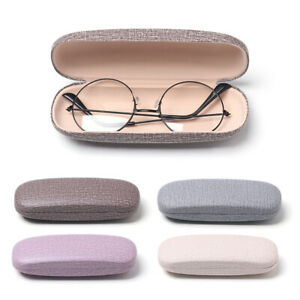 Leather-Eye-Glasses-Hard-Shell-Protector-Reading-Eyewear-Case-Sunglasses-Box-US