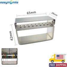 Easyinsmile Dental Endo File Holder 16 Holes Bur Stand Stainless Steel Organizer