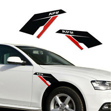 2* Popular APR Fender Side Scuttles Tuner Vinyl Decal Stickers for VW BMW AUDi