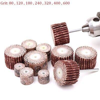 Sanding Flap Wheel Disc Polishing Sandpaper for Dremel Die Grinder 80-600 Grit
