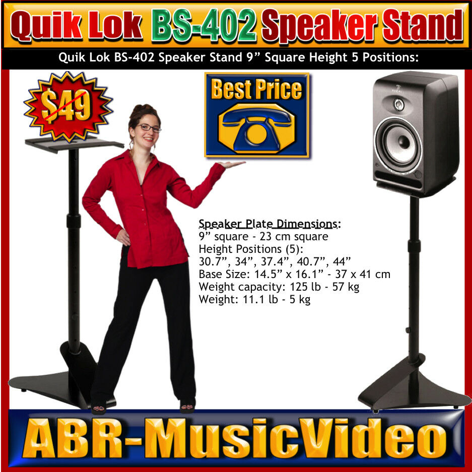 Two Quik Lok BS-402 Speaker Stands