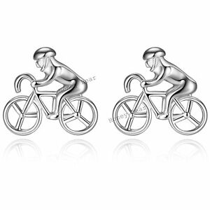 Honey-Bear-Racing-Bike-Cufflinks-Cyclist-Cycle-Bicycle-Novelty-Cuff-Link-Gift