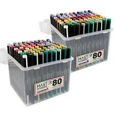 160 Color Artist Illustration Drawing Marker Dual Tip Chisel Brush Set A & Set B