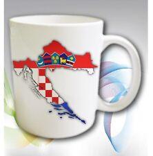 Tasse Becher KROATIEN Crotia Hrvatska Fahne Flagge Flag Cup Mug