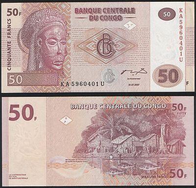 UNC 2007 Congo D.R. 50 Francs Pick 97
