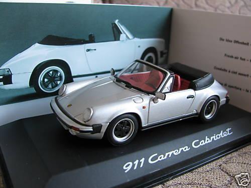 1 43 Minichamps Porsche 911 Carrera Cabriolet diecast with book