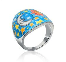 Colorful Sun & Moon Polymer Clay Mix Ring